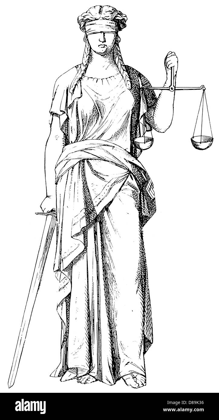 Justice Personified - Stock Image