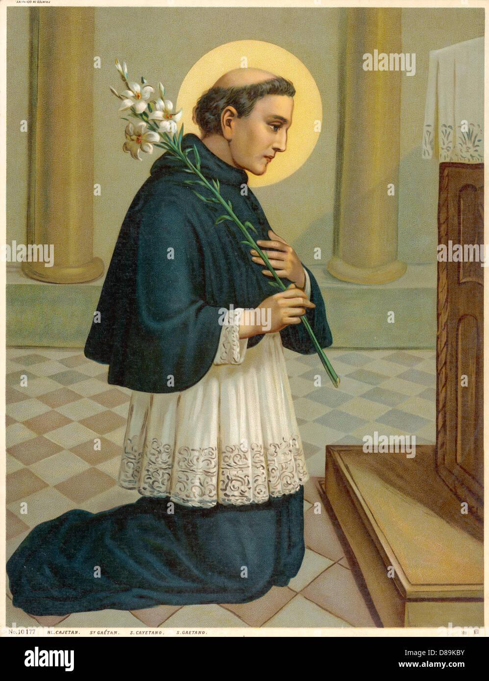 Saint Gaetano - Stock Image