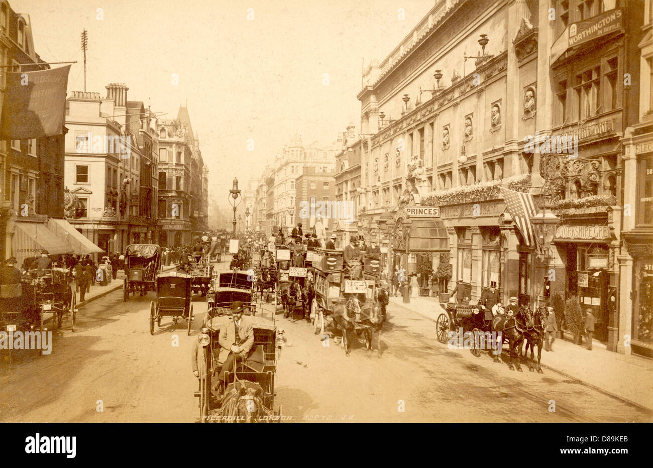 Londons Piccadilly - Stock Image