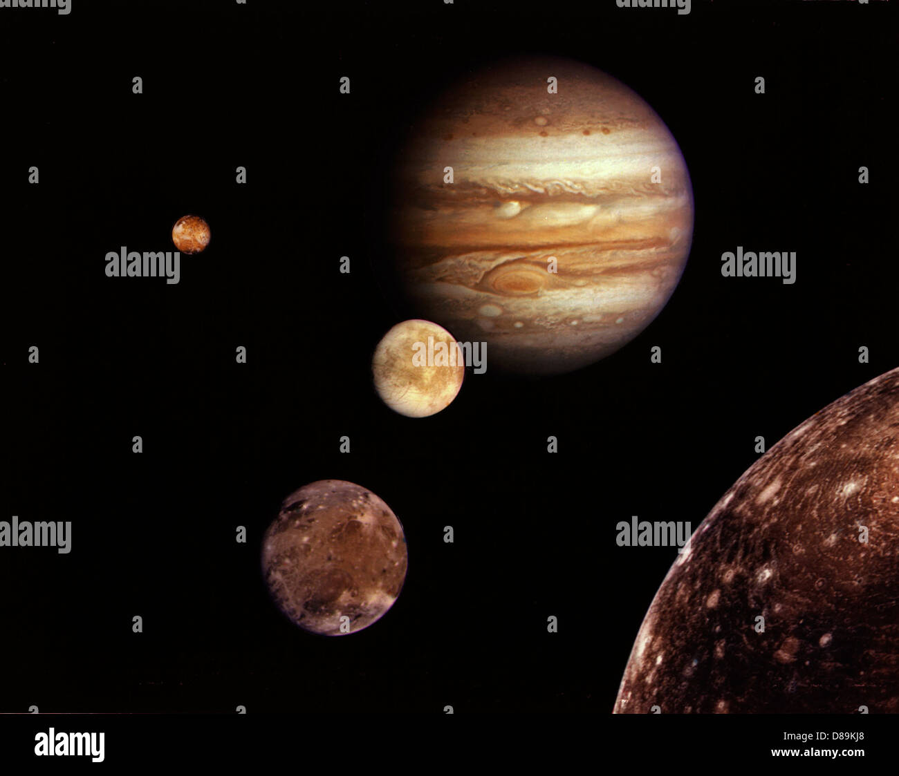 Jupiter And Its Moons - Stock Image