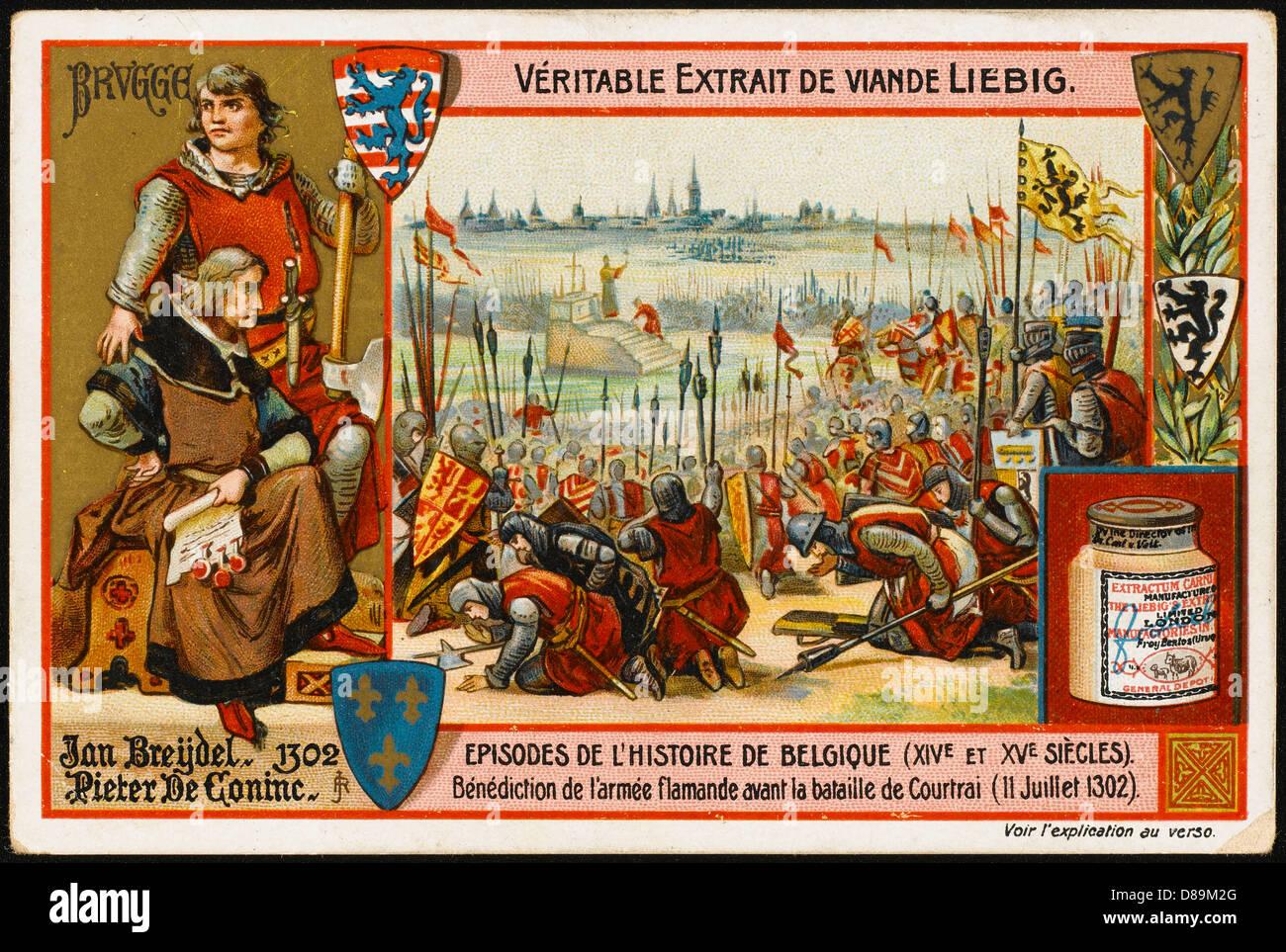 Battle Of Courtrai - Stock Image