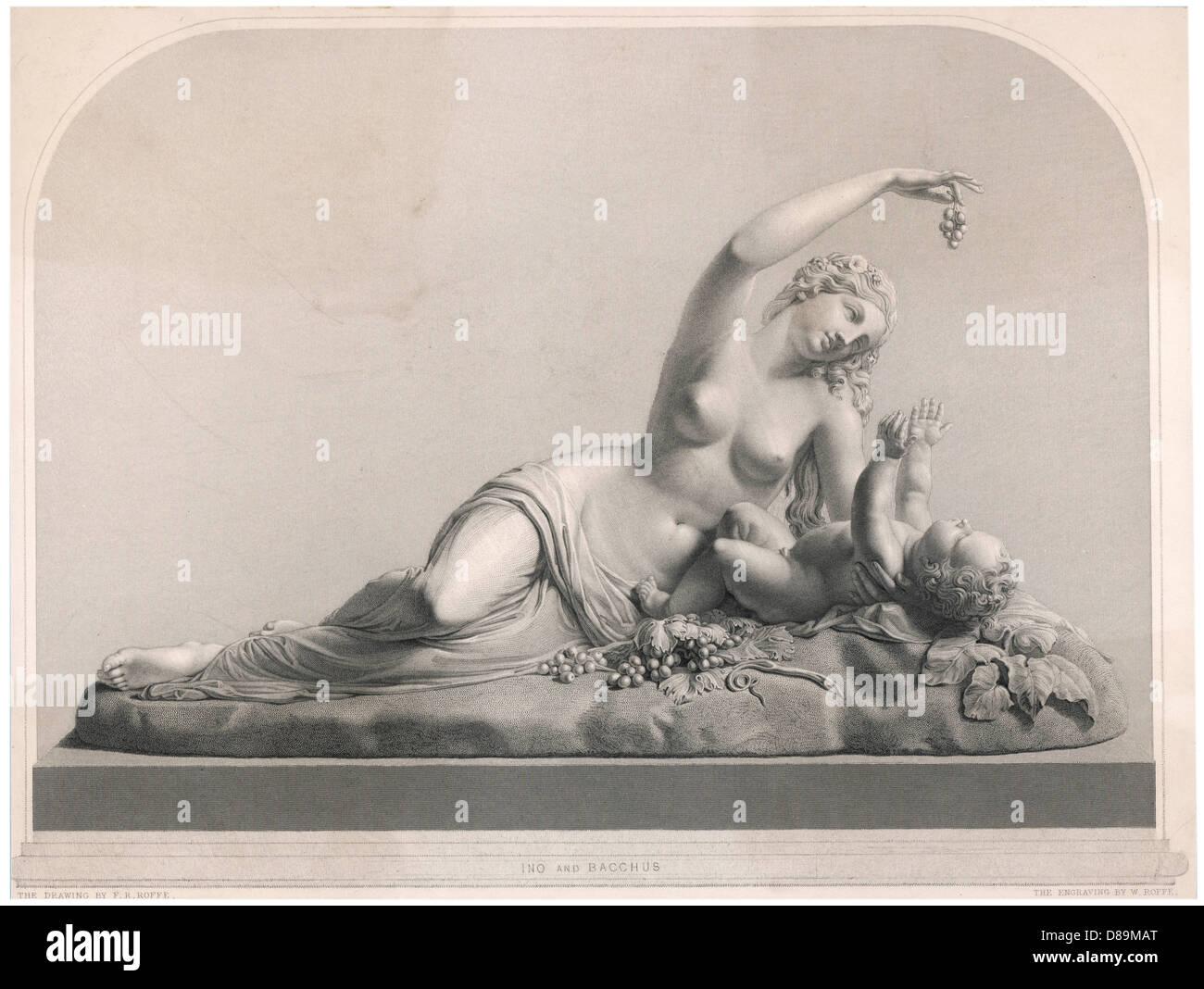 Dionysos Ino Myth - Stock Image