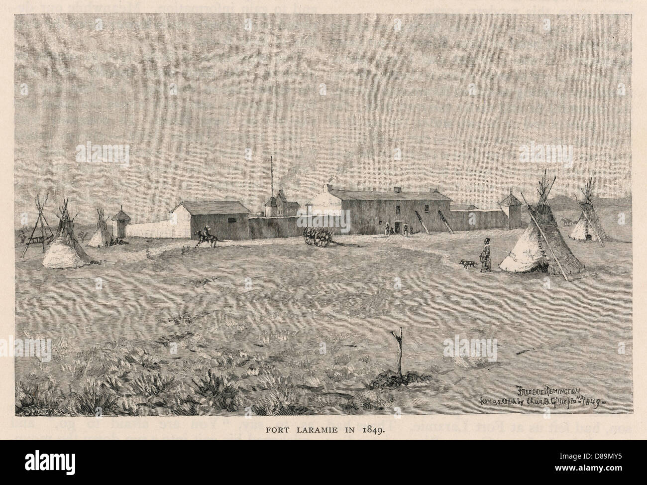 Fort Laramie - Stock Image