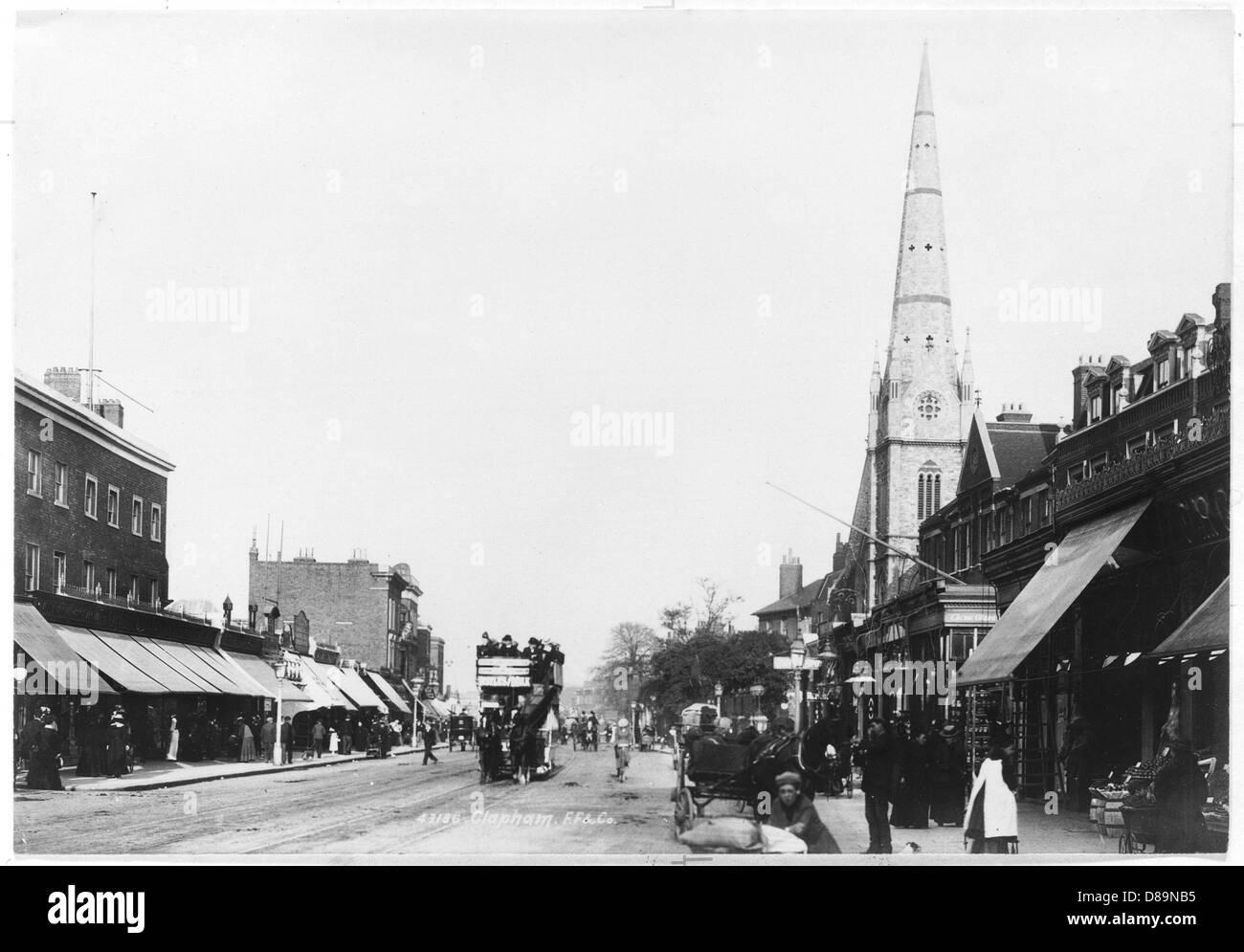 Clapham 1900 - Stock Image