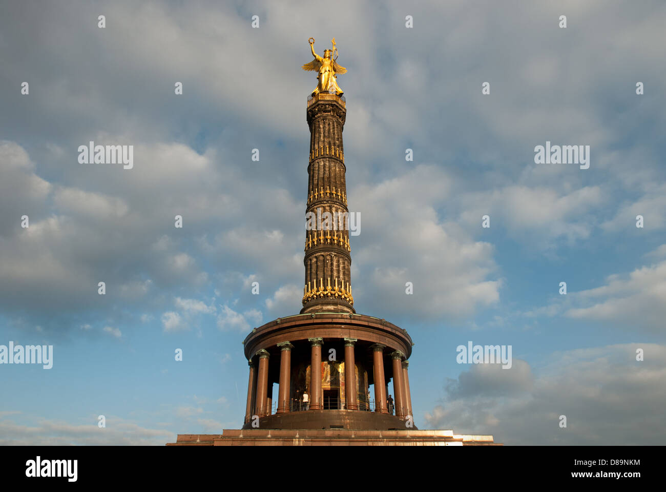 The Victory Column in Berlin, Germany. - Stock Image
