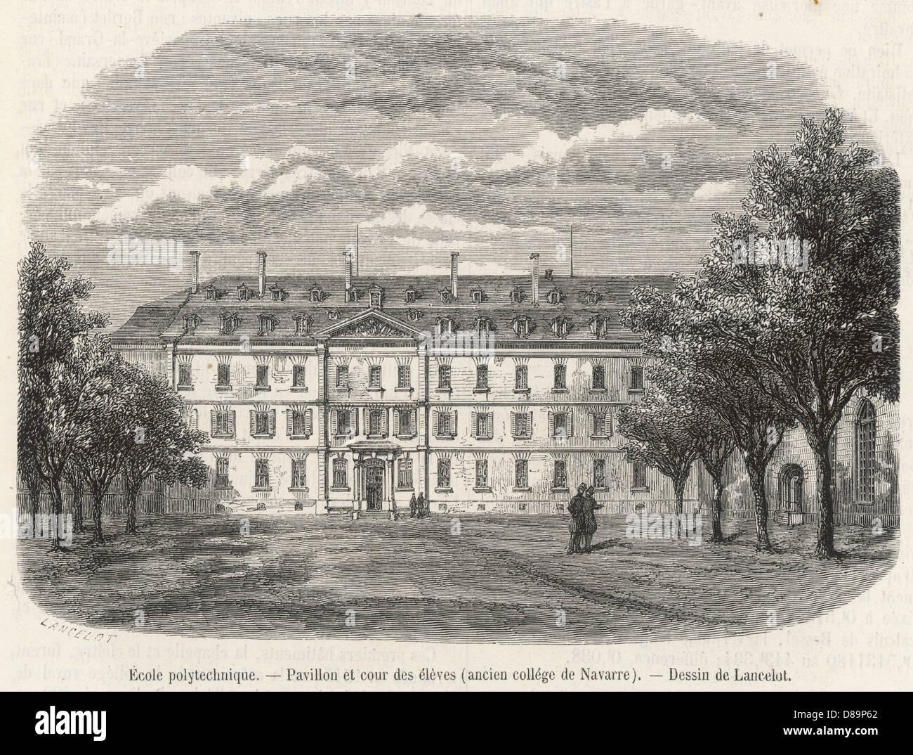 Ecole Poly Paris 1859 - Stock Image