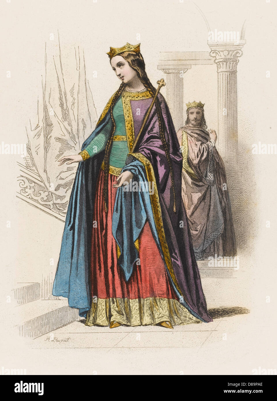 Costume Royalty 10th C - Stock Image