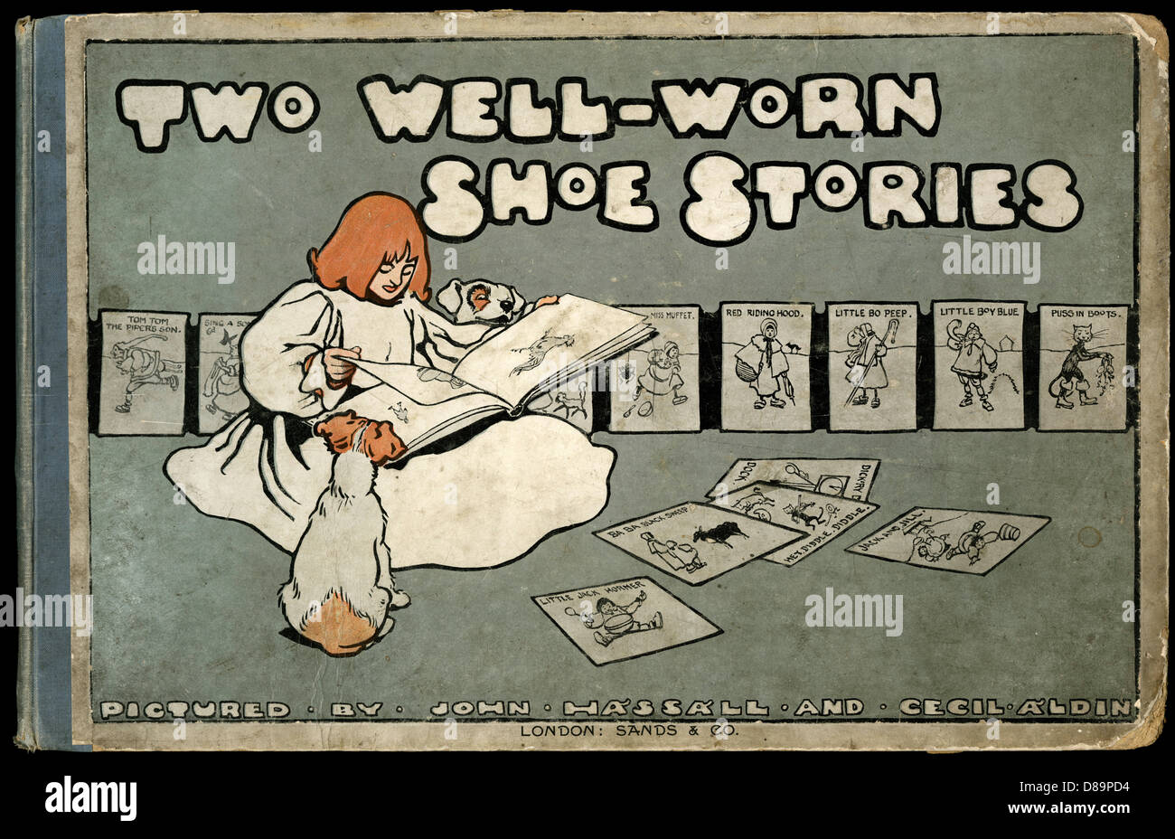 Book Cover Design  Two Well Worn Shoe Stories - Stock Image