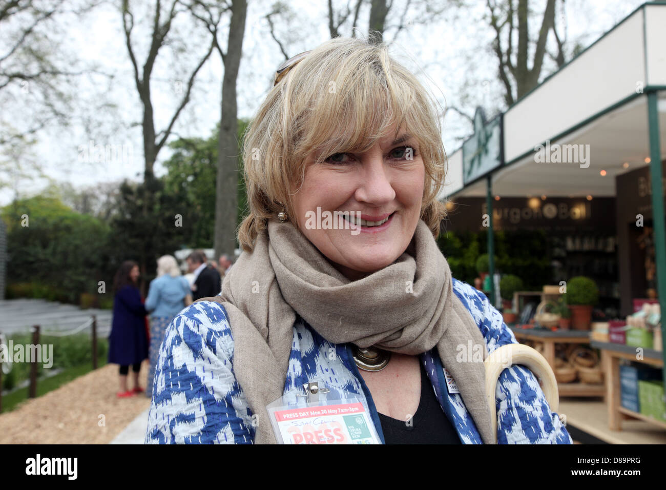 Susan Crewe, Editor of House & Garden at the RHS Chelsea Flower Show 2013 - Stock Image