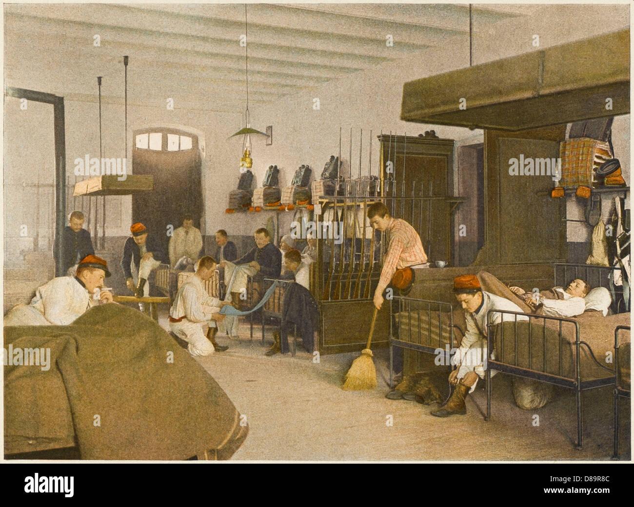 Waking In Barracks - Stock Image