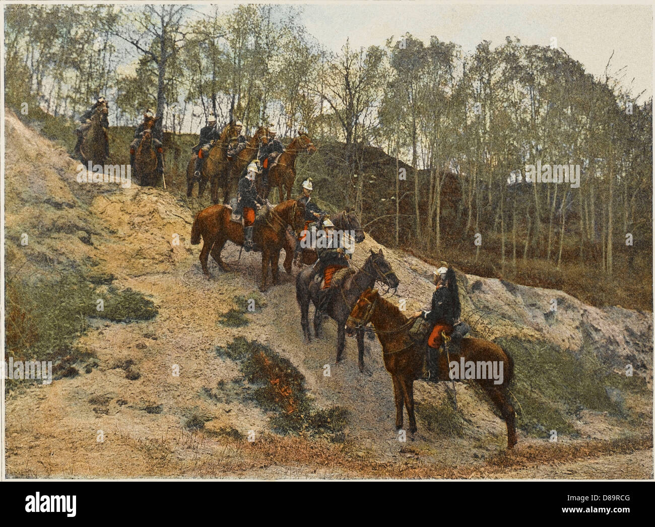 French Cavalry Patrol - Stock Image
