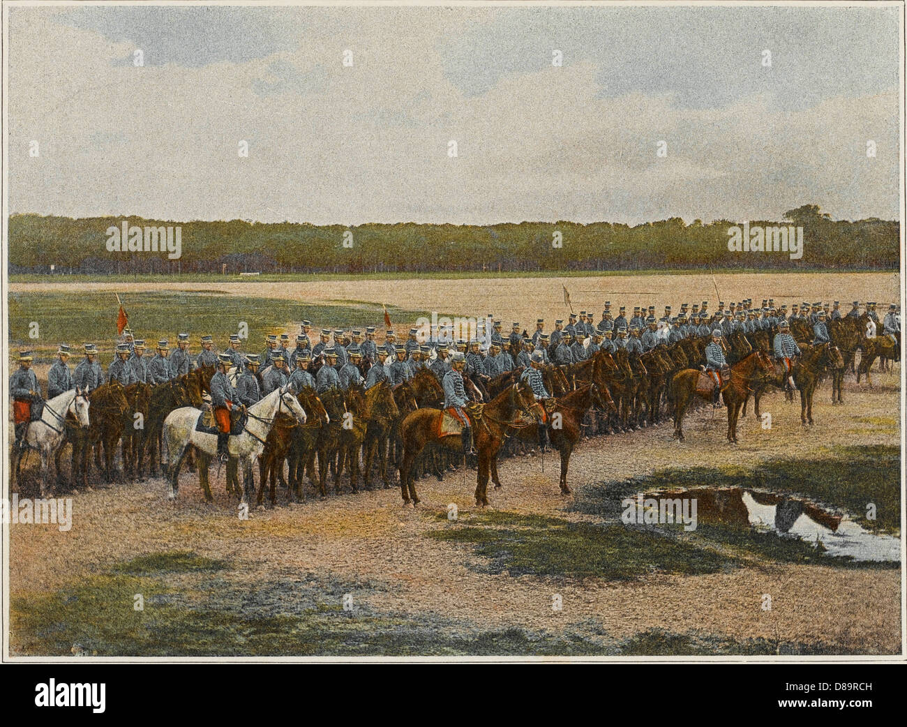 French Cavalry Charge 1 - Stock Image