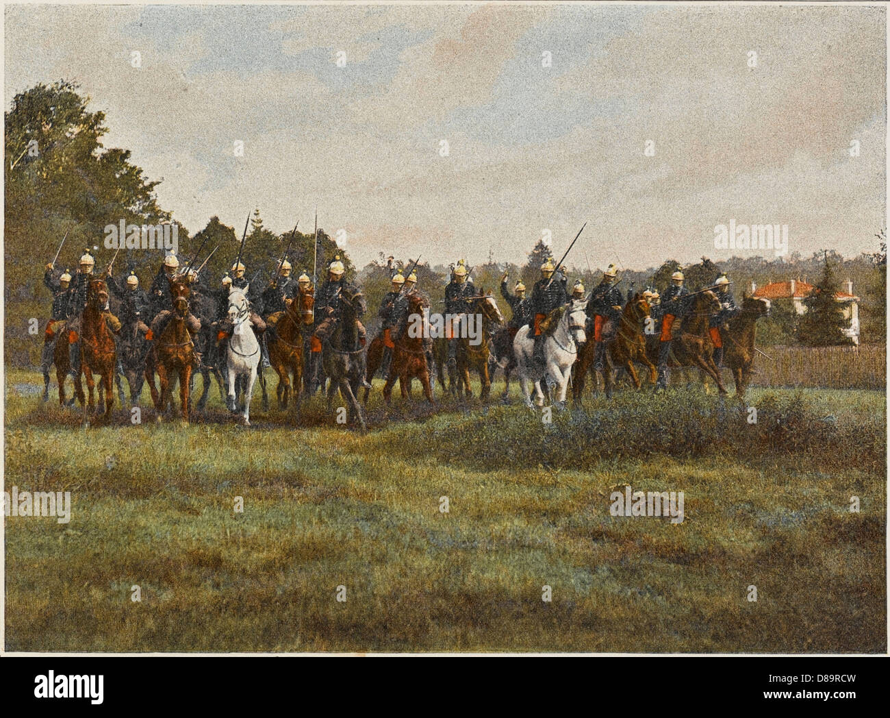 French Cavalry Charge 2 - Stock Image