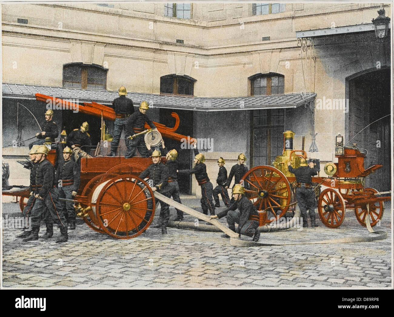 Sapeurs Pompiers Engine - Stock Image