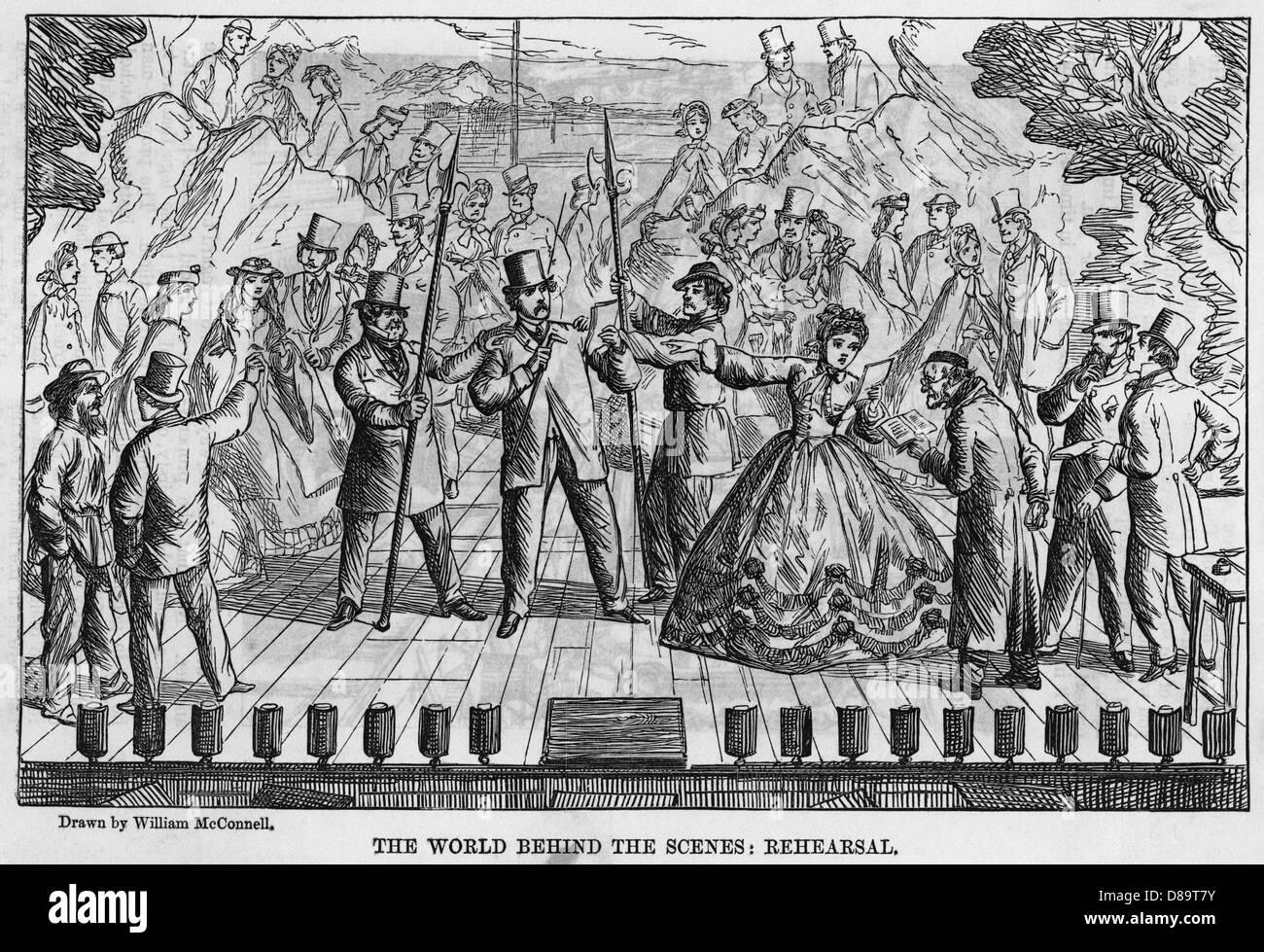 Rehearsing In 1863 - Stock Image