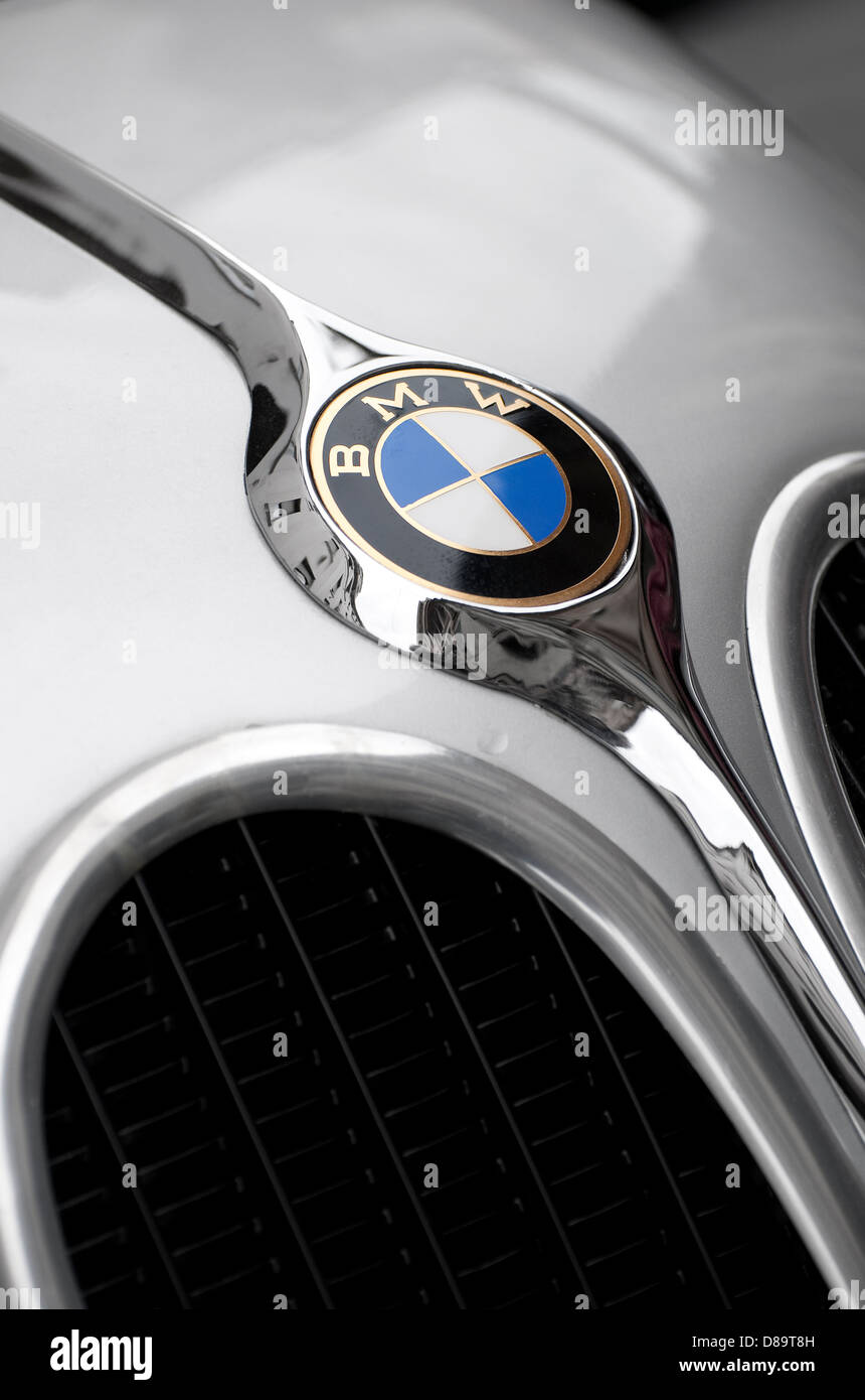 bmw 328 coupe touring front badge and grill Stock Photo