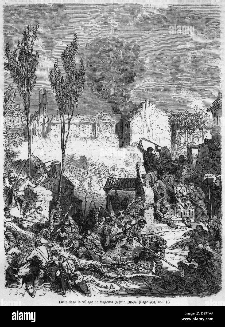 Battle Of Magenta 5 - Stock Image