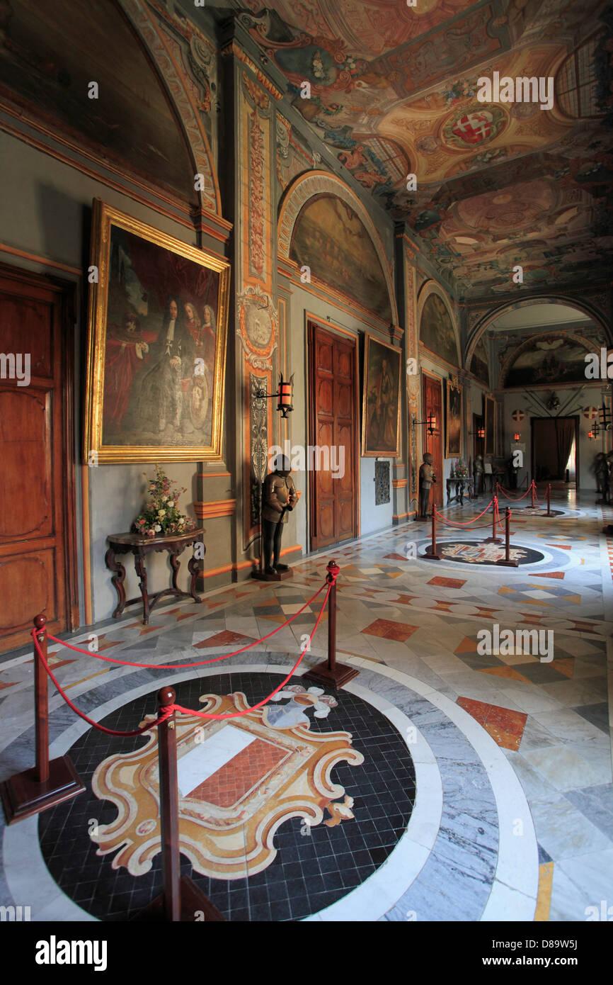 Malta, Valletta, Grand Master's Palace, State Apartments, - Stock Image
