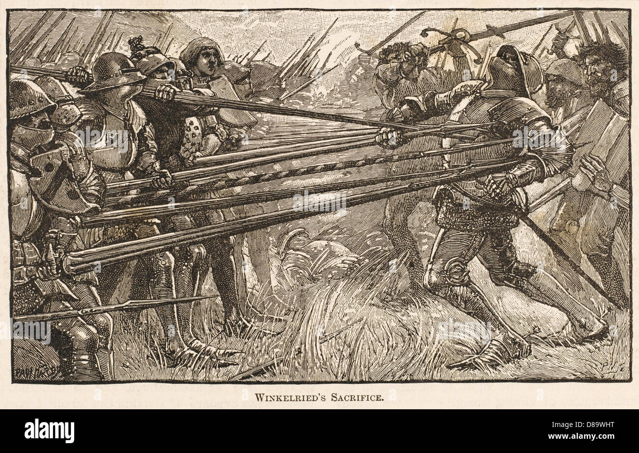Battle Of Sempach 3 Stock Photo
