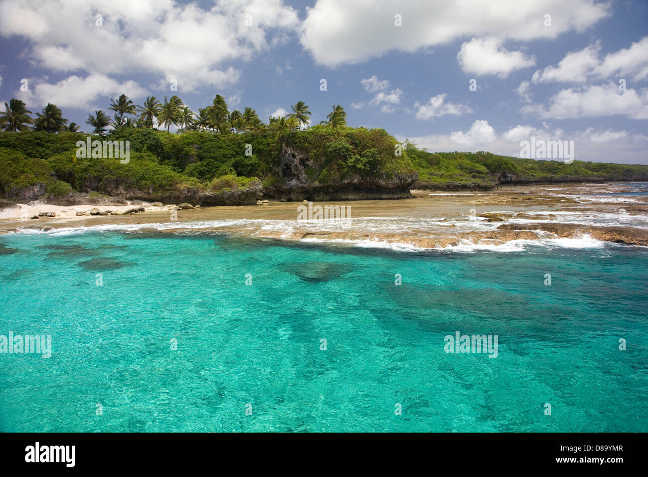 Coastline of Alofi, Niue, South Pacific Island. - Stock Image
