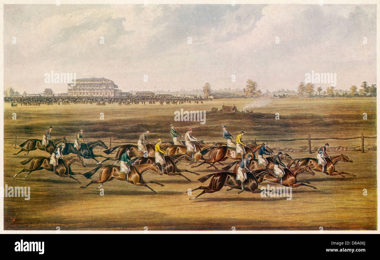 St Leger Race 1836 - Stock Image