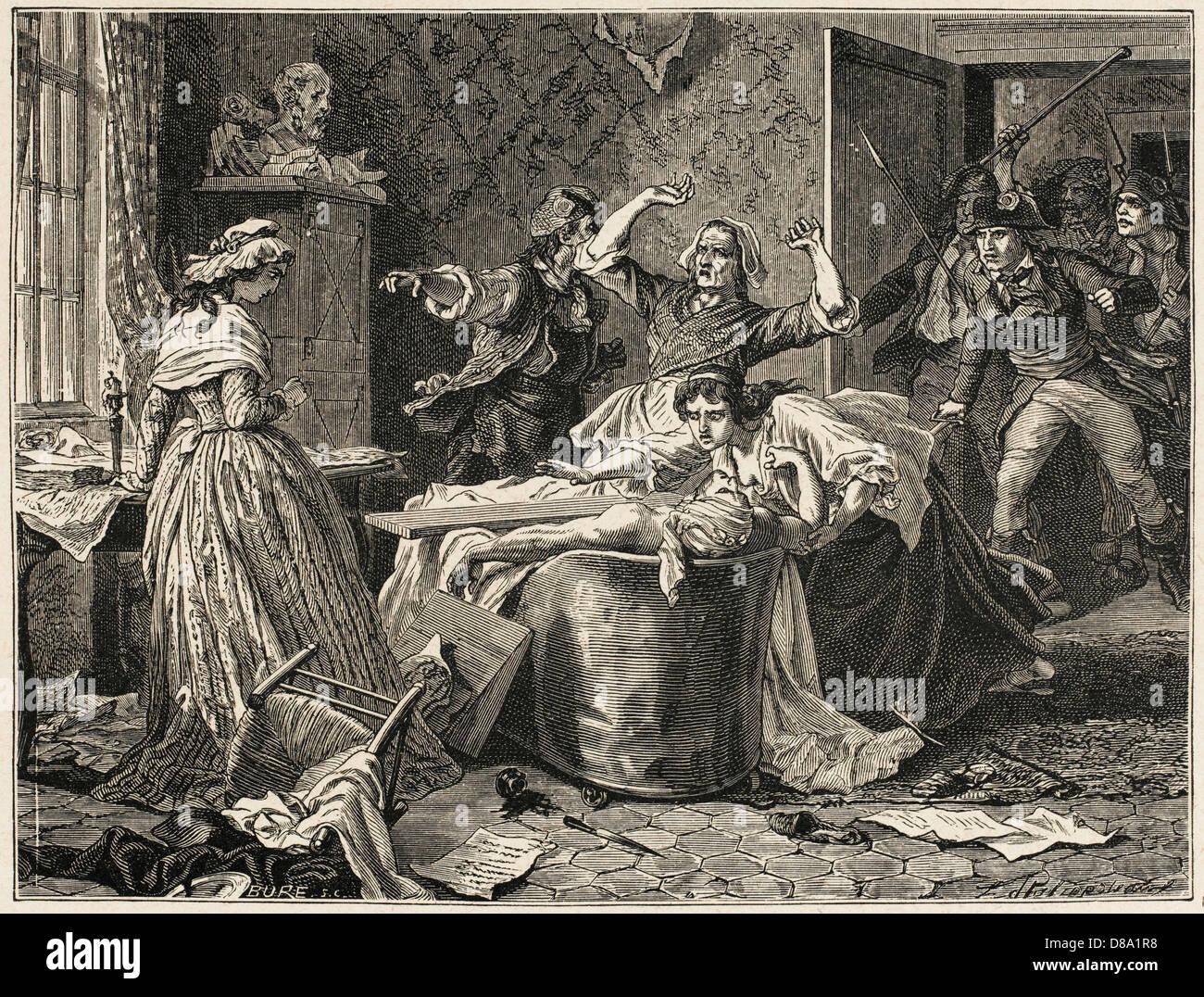 Marat Murdered 1 - Stock Image