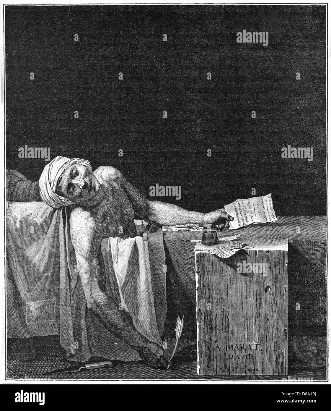 Marat Murdered 4 - Stock Image