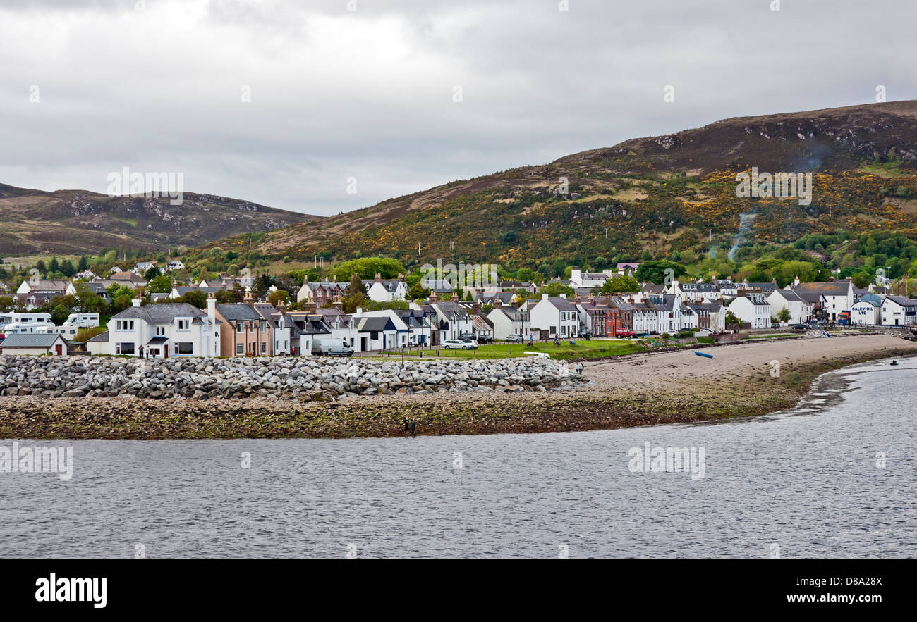 Ullapool seen from Loch Broom in Highland Scotland - Stock Image