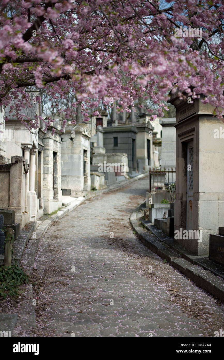 Pere Lachaise cemetery in Paris, France. - Stock Image