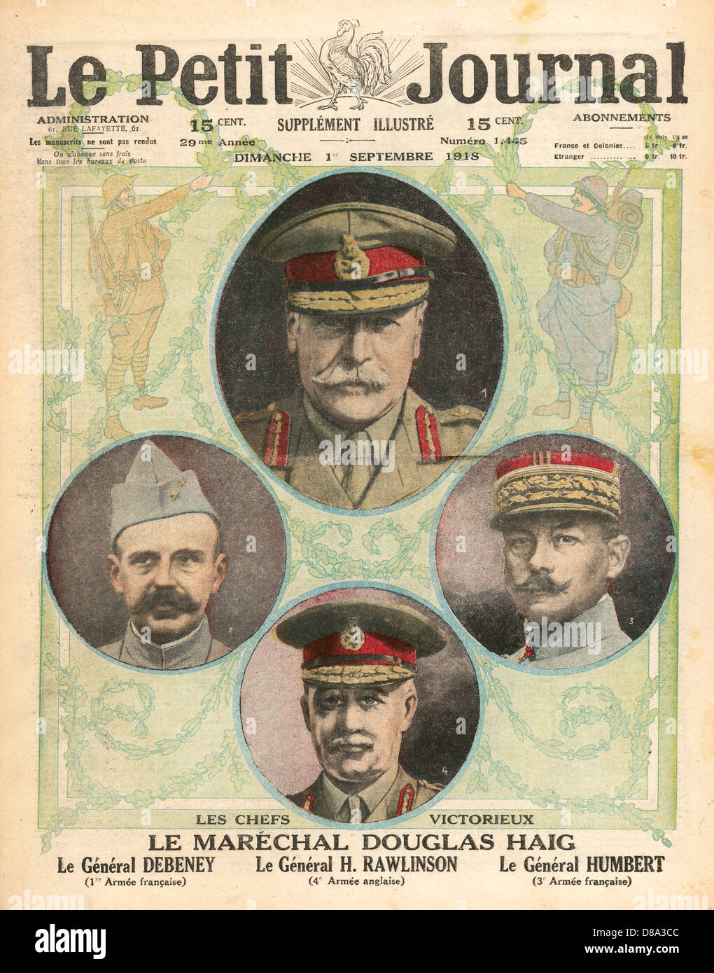 Allied Commanders Wwi - Stock Image