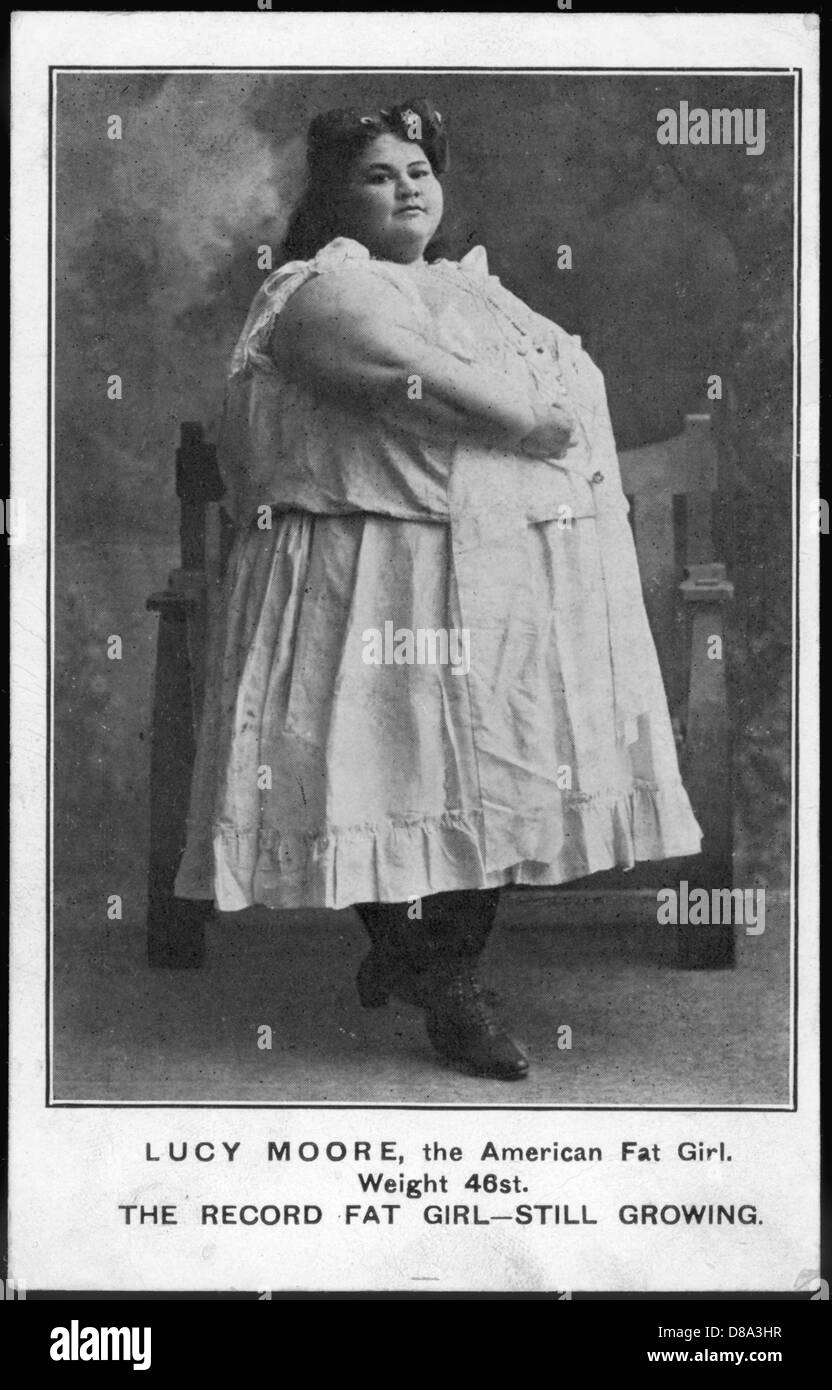 Fat Lucy Moore - Stock Image