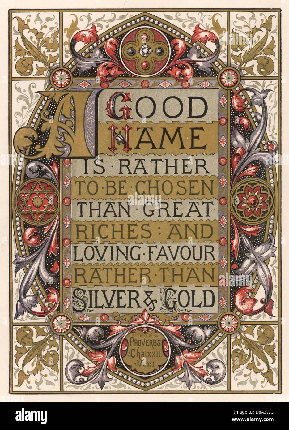 Text Good Name Chosen - Stock Image