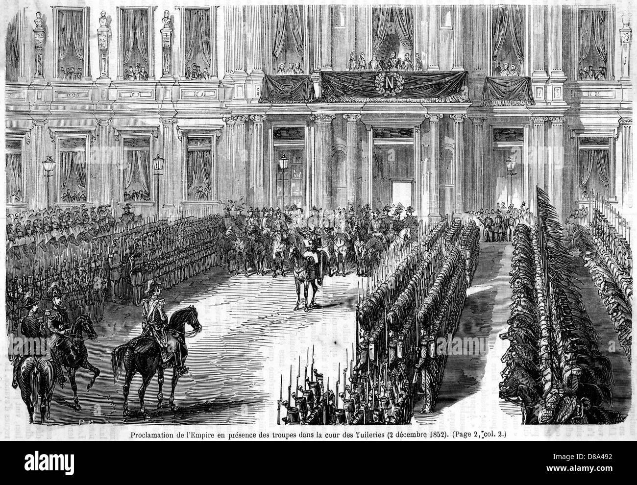 Napoleon Now Emperor - Stock Image