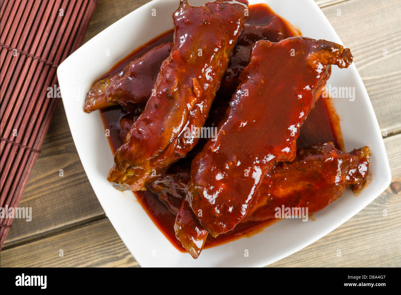 Char Siu Chinese Sticky Pork Spare Ribs Roasted With A