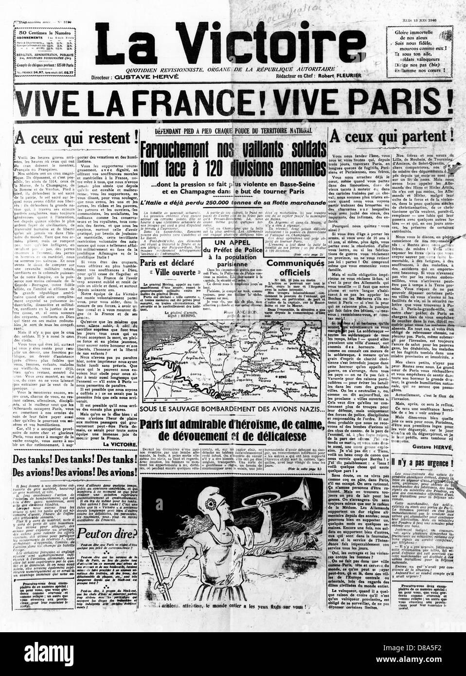 Newspaper Headline - Stock Image