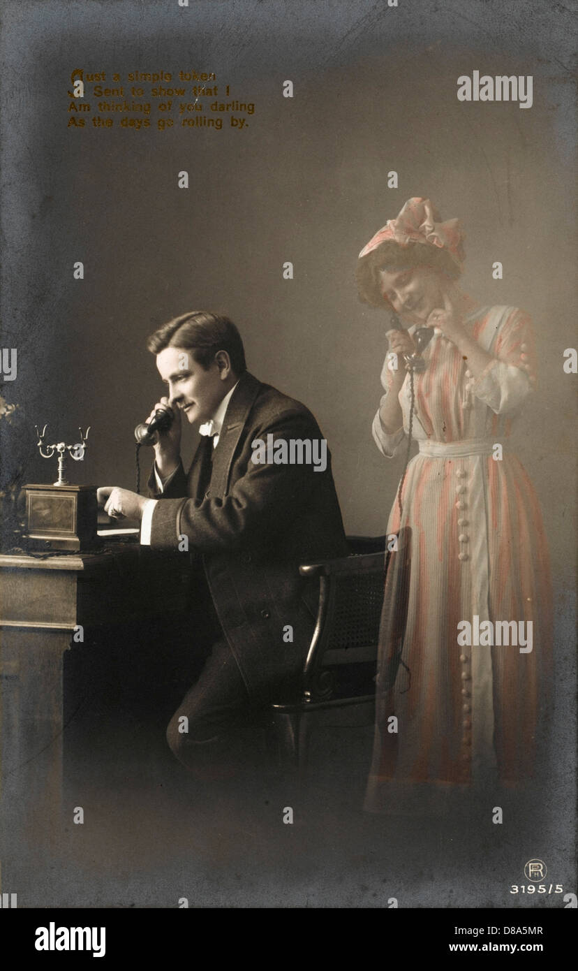 Man On Phone C1905 - Stock Image