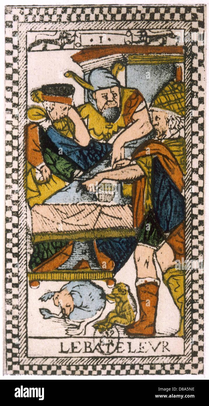 Tarot Card Bateleur 1500 Stock Photo