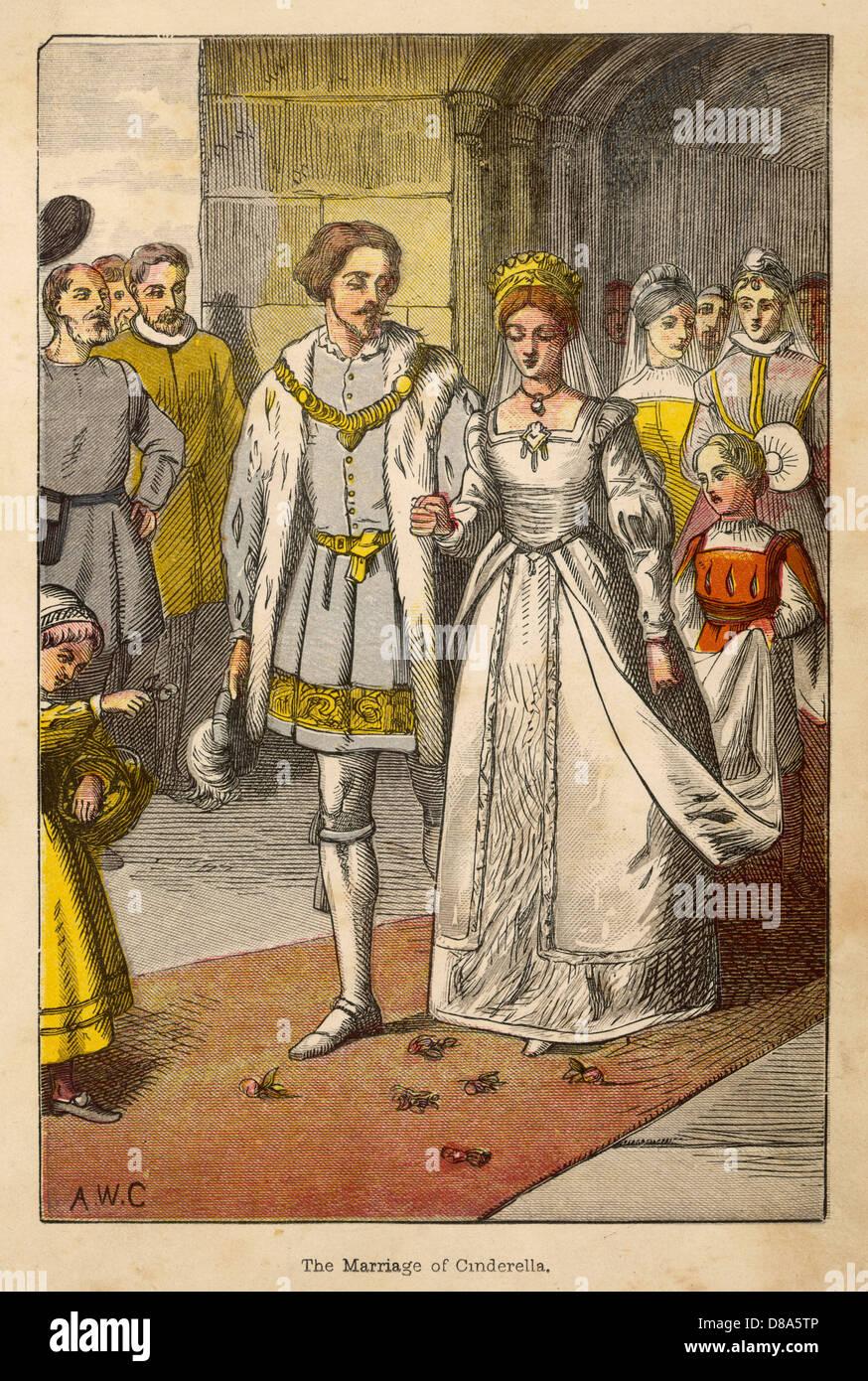 Fairytale Wedding 1867 - Stock Image