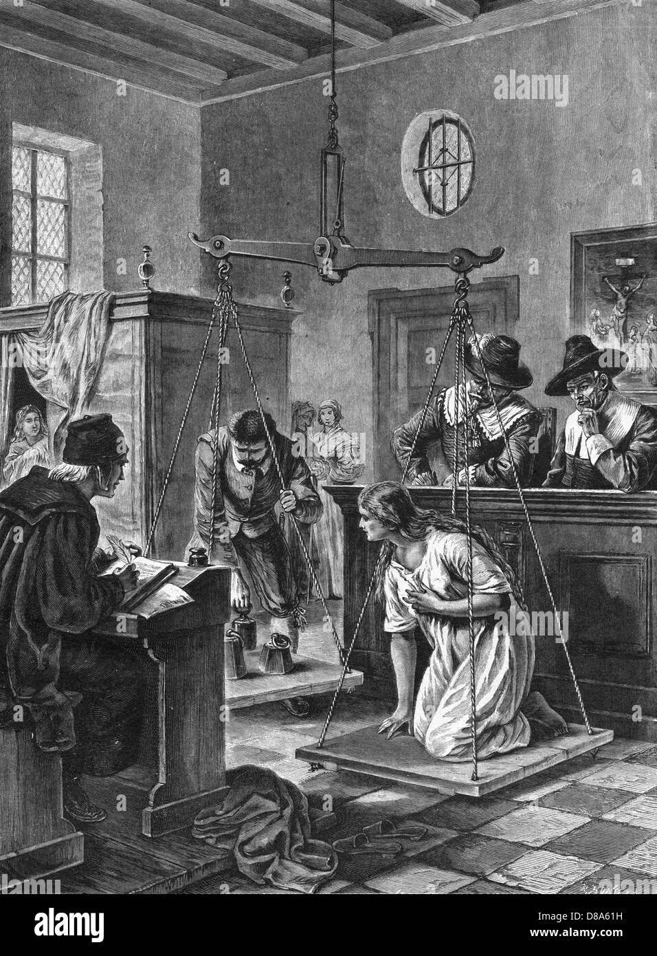 Weighing A Dutch Witch - Stock Image