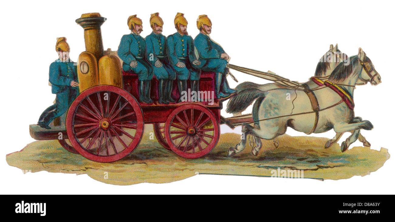 Fire Engine Scrap - Stock Image