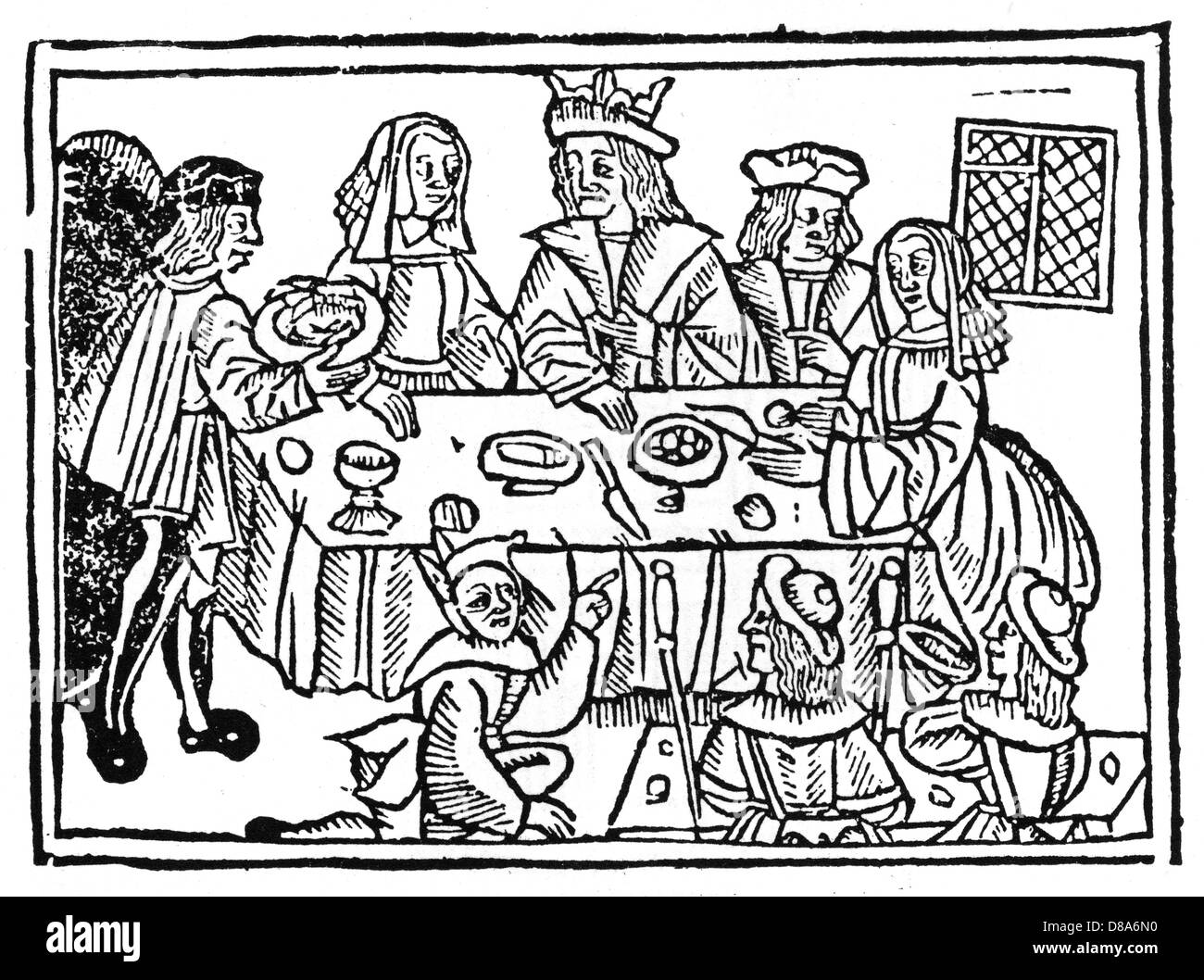 A King At Table - Stock Image