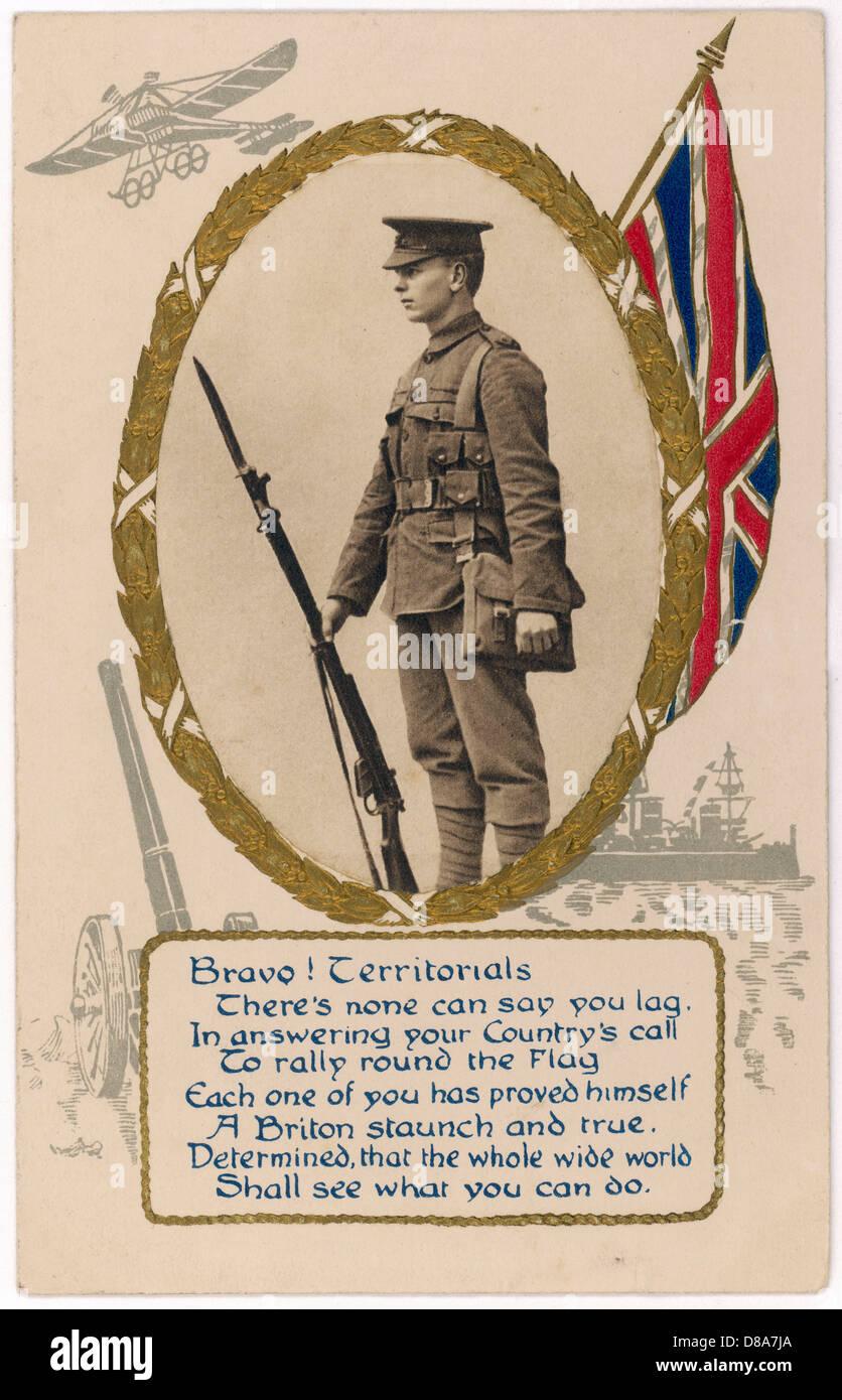 Territorials Card C1914 - Stock Image