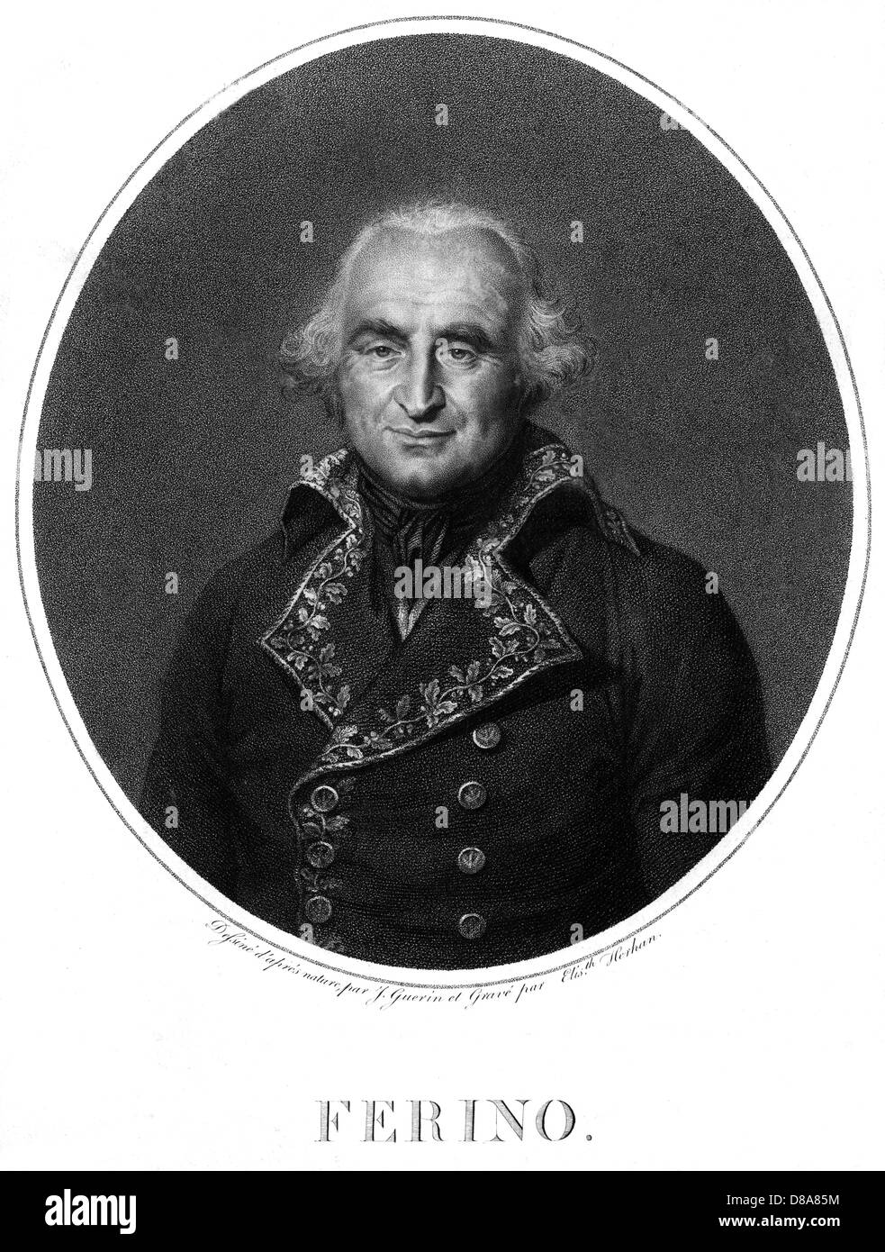 Comte Pierre Ferino Stock Photo