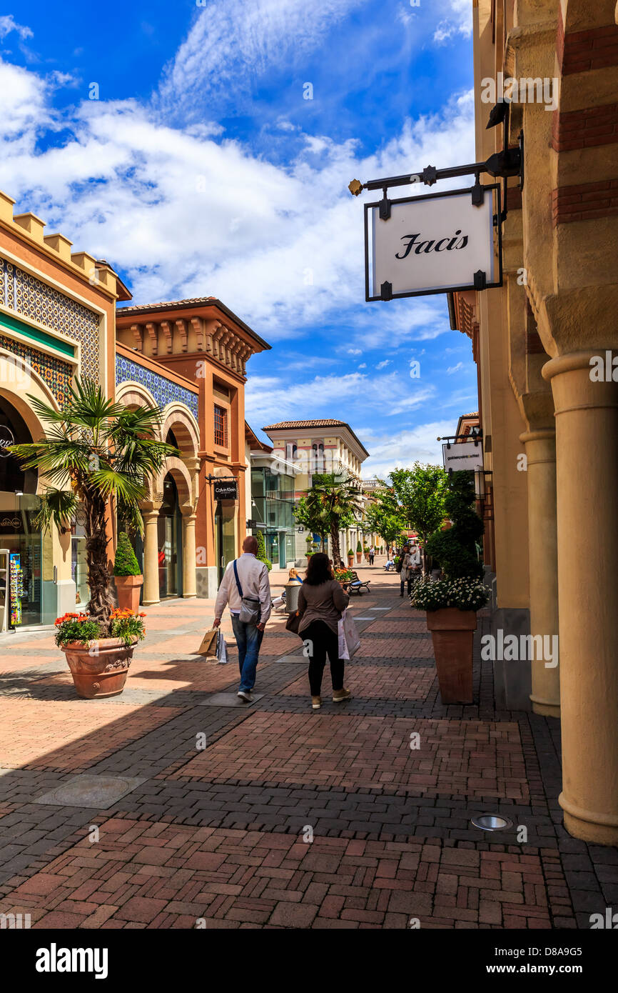 Fidenza Outlet Village, Fidenza, Emilia Romagna, Italy Stock Photo ...