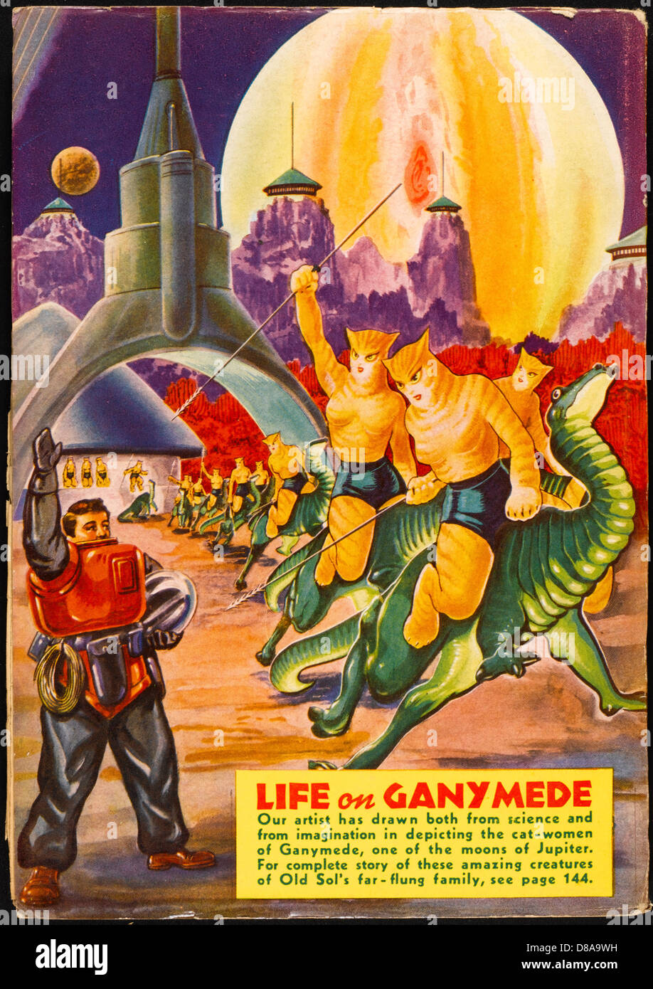 Life On Ganymede - Stock Image