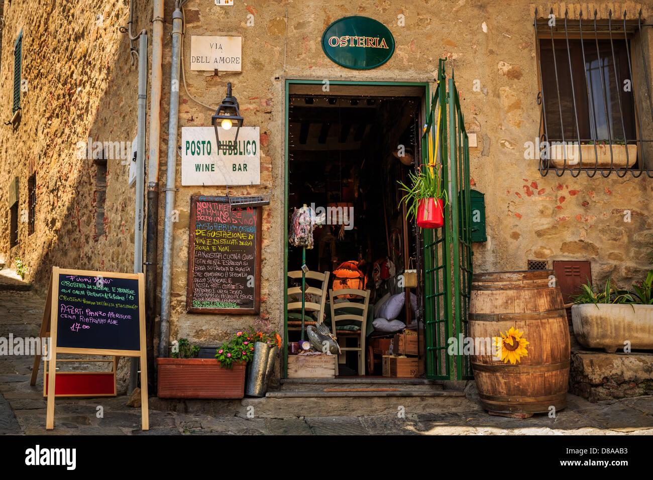 Osteria in Castiglione della Pescaia, Tuscany, Italy, Europe - Stock Image