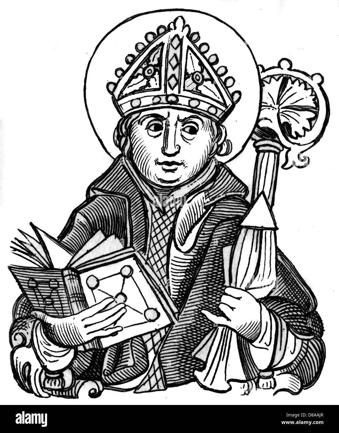 Becket Woodcut - Stock Image