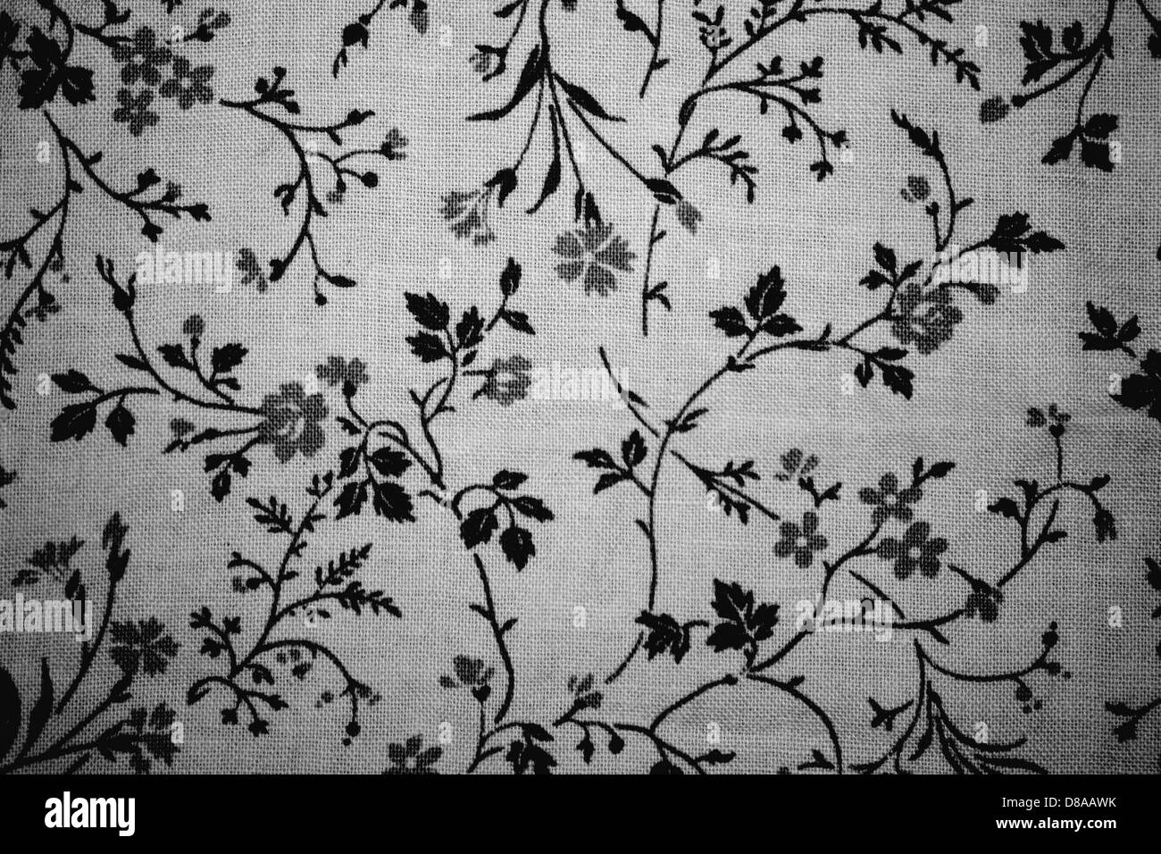 Floral Print Black And White Stock Photos Images Alamy