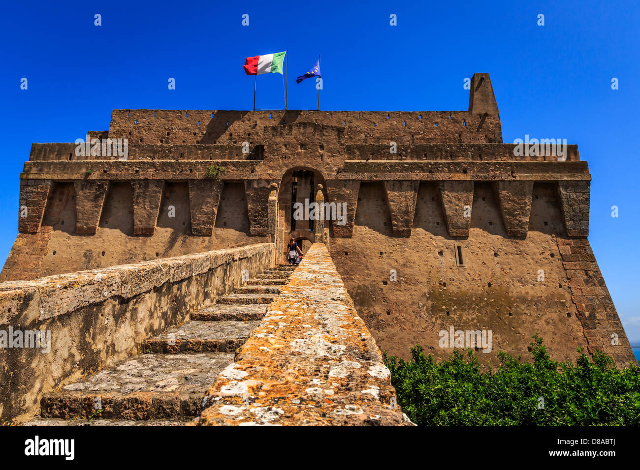 The Spanish Fort in Porto Santo Stefano, Monte Argentario, Maremma, Grosseto Province, Tuscany, Italy Stock Photo