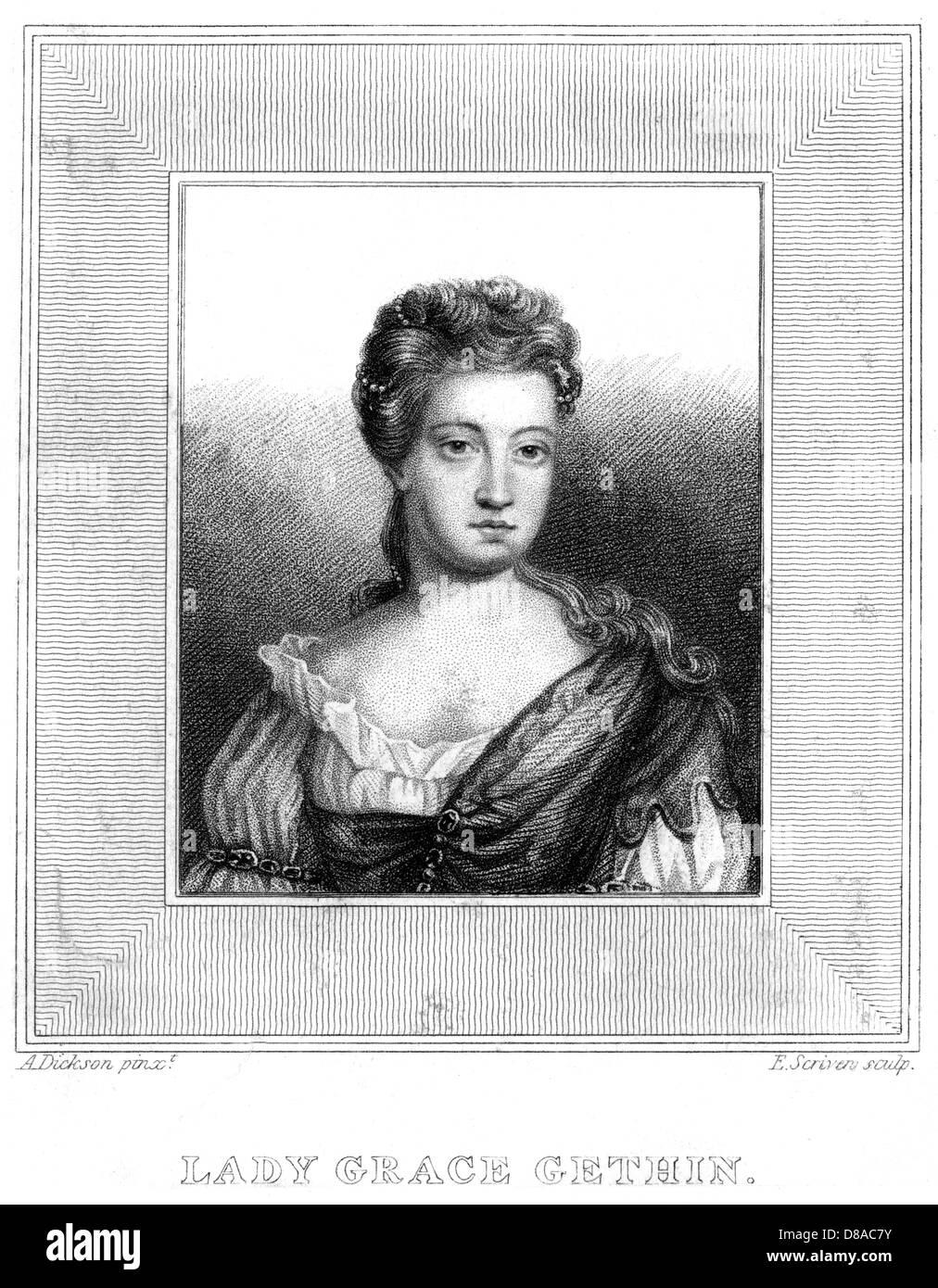 Lady Grace Gethin - Stock Image